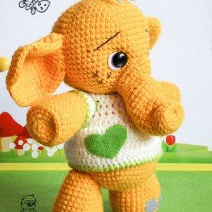 вязаный слоник крбючком купить вязаную игрушку слоник