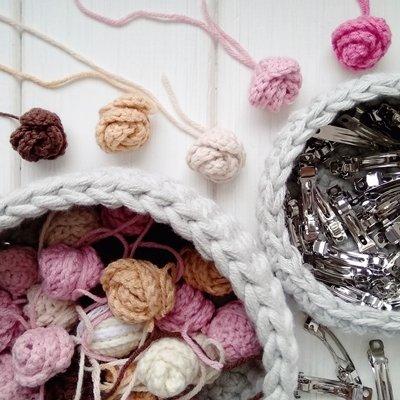розочка крючком схема вязания амигуруми