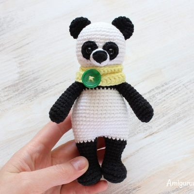 панда крючком амигуруми схемы амигуруми