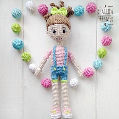 кукла Амигуруми крючком вязаная кукла ксюша бесплатная схема амигуруми