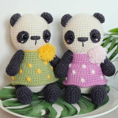панда крючком схема игрушки Амигуруми