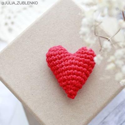 вязаное сердечко крючком бесплатное описание амигуруми