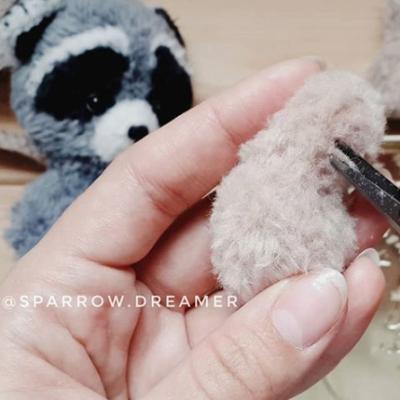 фактурная пряжа Минк как начесать пряжу игрушки амигуруми