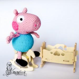 магазин вязаных игрушек свинка Пеппа купить