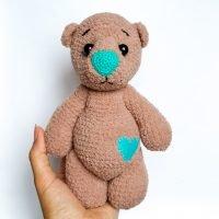 мишка сердцепуз схема вязания
