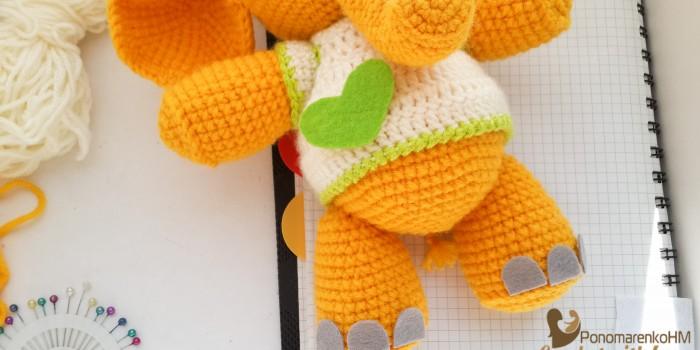 PonomarenkoHM пономаренко хендмейд вязаные игрушки мастер-класс описание желтого слоника-66