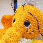 PonomarenkoHM пономаренко хендмейд вязаные игрушки мастер-класс описание желтого слоника-70