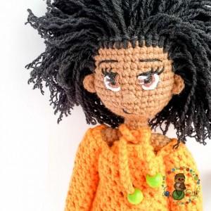 вязаная кукла игрушки ручной работы