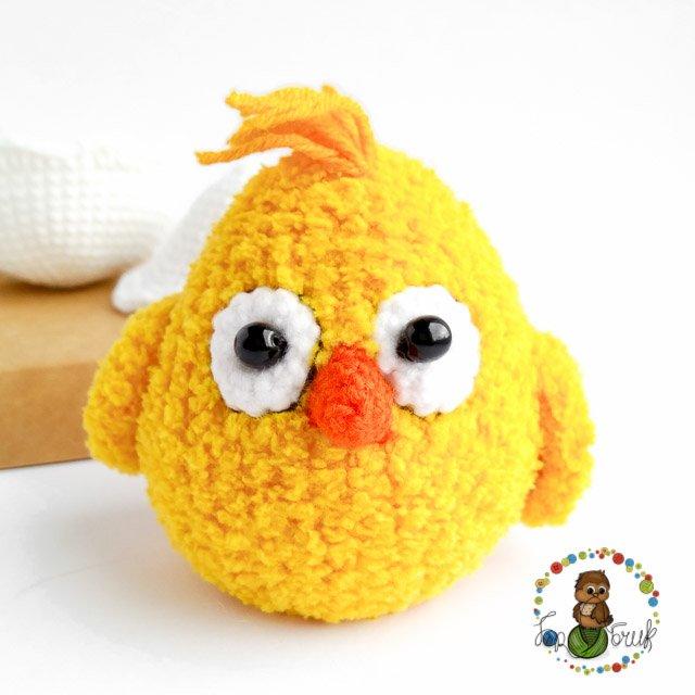 бесплатное описание амигуруми цыпленок плюшевый