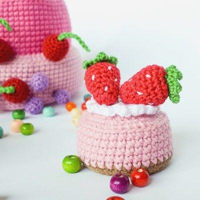 схема вязания пирожные