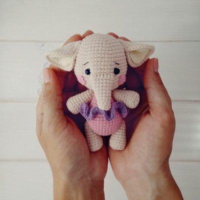 слоник крючком схемы амигуруми кармасик слоня автор Любовь Пономаренко
