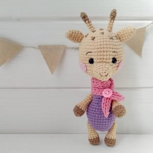 схема вязания игрушки амигуруми кармасик жирафка мастерская горобчик