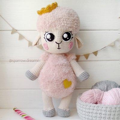схема вязания овечка марьянка описание амигуруми вязаная овечка крючком автор любовь пономаренко