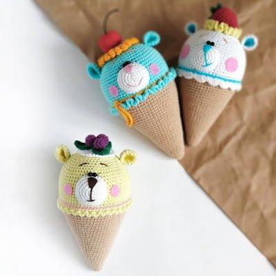 вязаное мороженое крючком схемы амигуруми для новичков