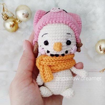 crochet snowman free pattern